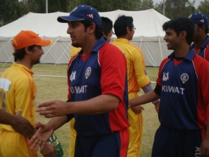 Bhutan & Kuwait team members, ACC trophy 2010