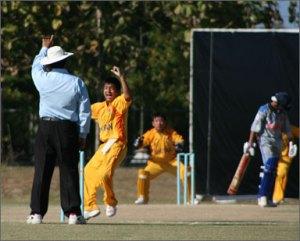 Thubten traps myanmars batsman