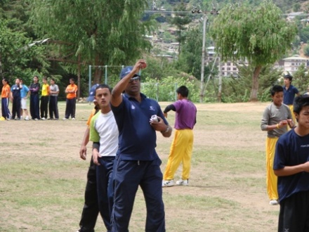 Rumesh Ratnayaka shares bowling tips to young Bhutanese U-19 Players