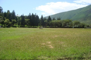 Army ground in Wangduephodrang district